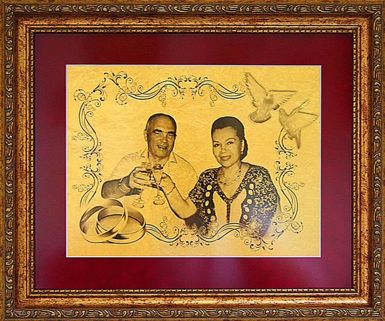 Подарок к золотой свадьбе своими руками